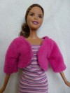 Fleece jas roze rond