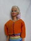 Fleece jas oranje recht