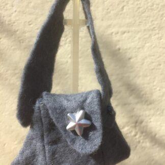 Tasje grijs zilver ster