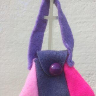Tasje roze-paars knoop