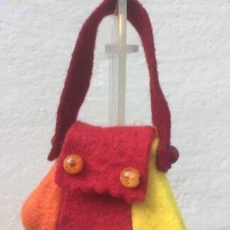 Tasje rood-geel-oranje kraal