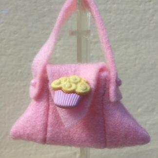 Tasje roze cupcake