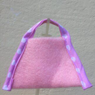 Tasje roze hartjesband